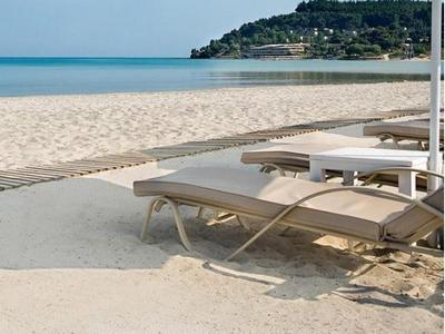 Пляж Сани для отдыха в Греции с детьми
