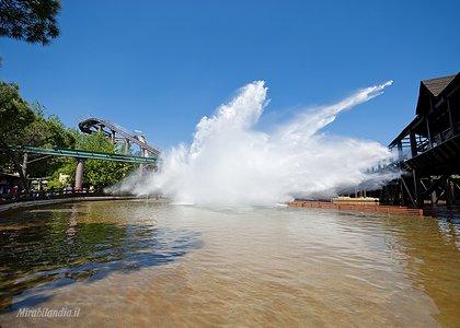 Водные тттракционы в парке развлечений Мирабиландия