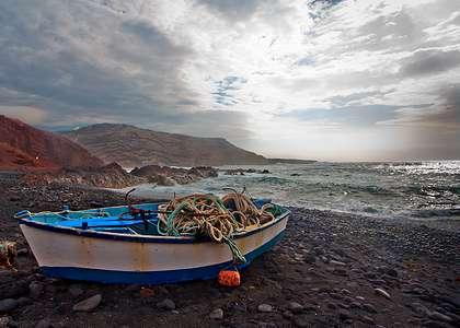 Лансароте: рыбацкая лодка