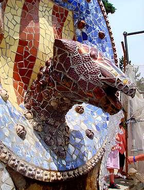 Мозаика в парке Гуэль