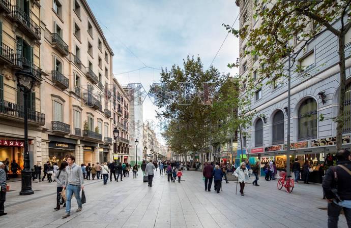 улица Рамбла в Барселоне