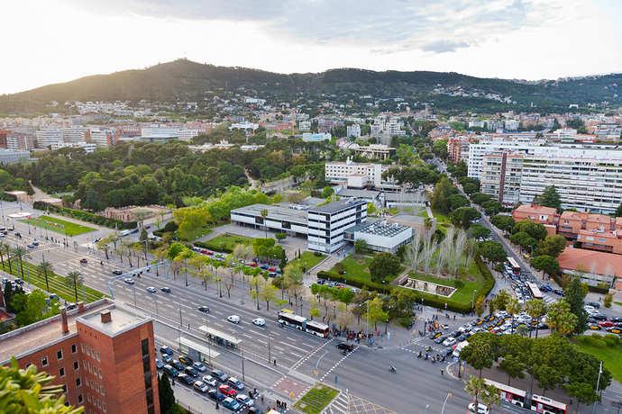 район Лес Кортс в Барселоне