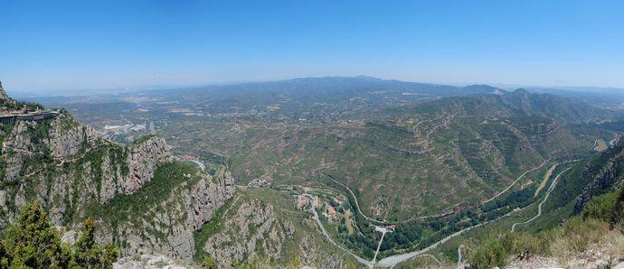 панорама в монастыре Монтсеррат