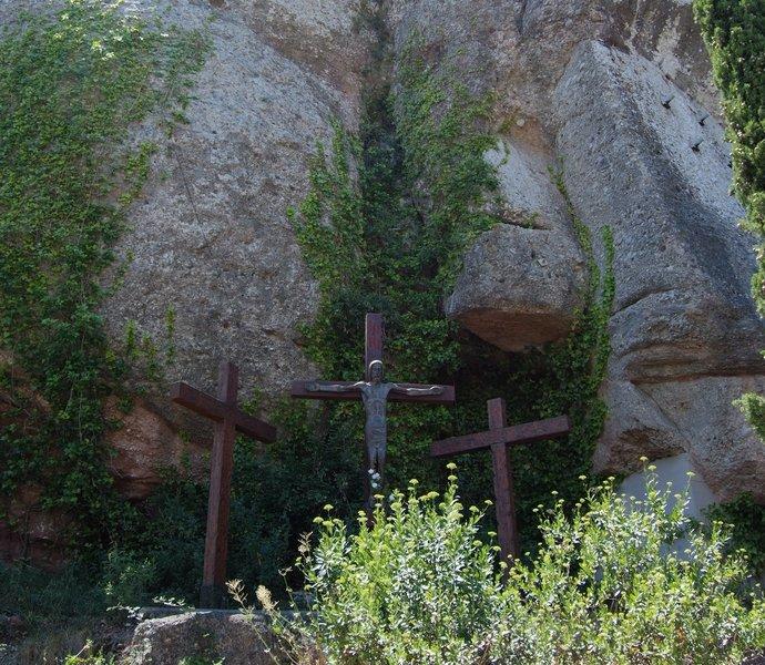скульптура Иисуса в монастыре Монтсеррат