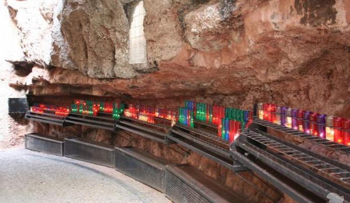 свечи в монастыре Монтсеррат
