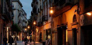 ночная Жирона в Испании