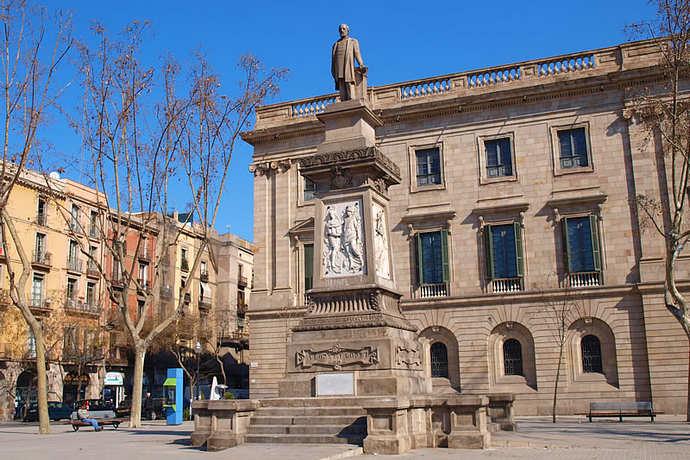 готический квартал в Барселоне площадь Antonio López
