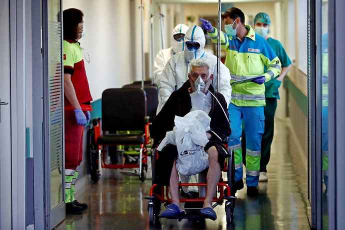 число заболевших коронавирусом в испании